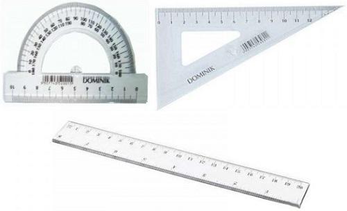Dominik Zestaw geometryczny z linijką 15 cm