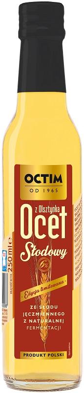 Octim Ocet słodowy z Olsztynka ze słodu jęczmiennego z naturalnej fermaentacji