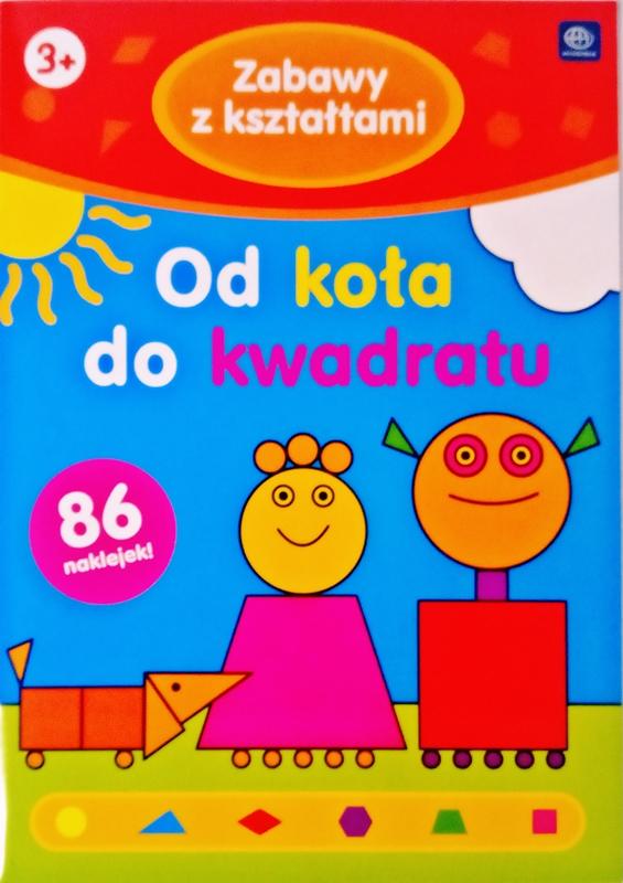 Interdruk Kolorowanka z naklejkami Zabawy z kształtami