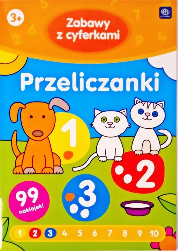 Interdruk Kolorowanka z naklejkami Zabawy z cyferkami