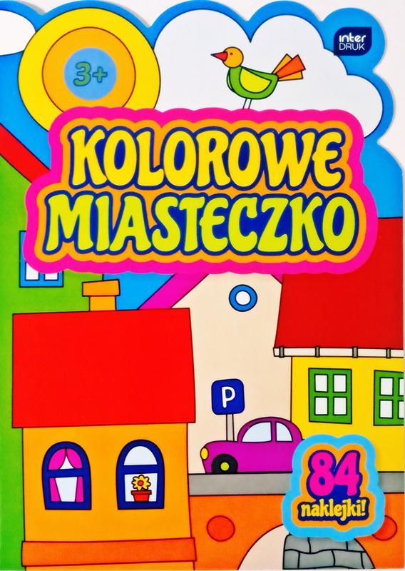 """Interdruk libro para colorear con pegatinas """"de color la ciudad"""""""