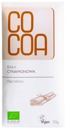 Cocoa Tabliczka biała cynamonowa BIO Bez laktozy