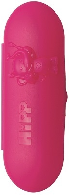 case with teaspoons pink