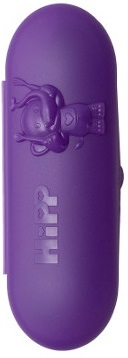 case with teaspoons purple