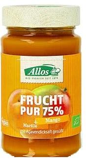 Allos Mus morela-mango 75% owoców BIO