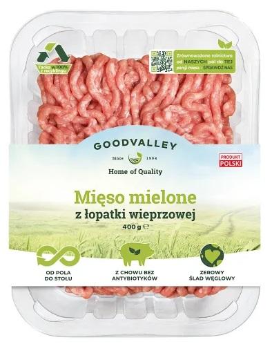 Goodvalley carne picada con una espátula de cultivo sin el uso de antibióticos y sin OGM