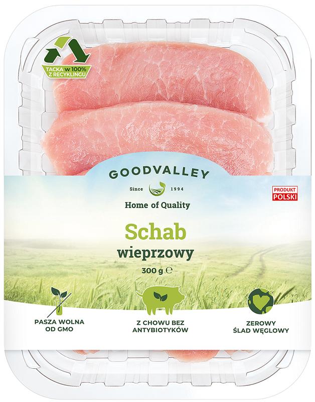 Goodvalley Lomo de cerdo deshuesado cortado en rodajas sin el uso de antibióticos y sin OMG.