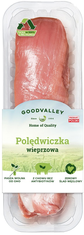Goodvalley Pork tenderloin from breeding without the use of antibiotics and without GMO.
