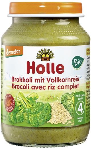 Holle Brokuły z ryżem pełnoziarnistym bezglutenowe BIO