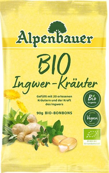 Alpenbauer Cukierki z nadzieniem  o smaku imbirowo-ziołowym BIO