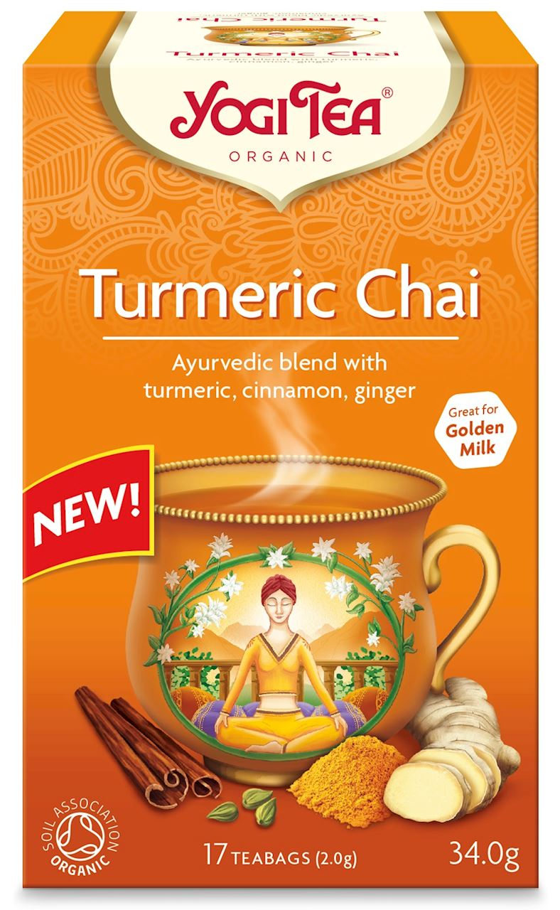 Yogi Tea Herbata złoty chai z  kurkumą BIO