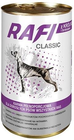Rafi Classic Karma pełnoporcjowa dla dorosłych psów wszystkich ras z królikiem i brokułami