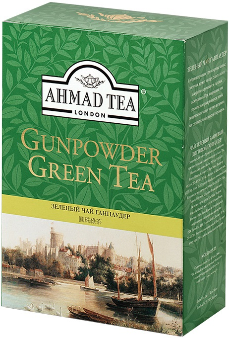 Ahmad Tea London Чай зеленый лист Порох зеленый чай