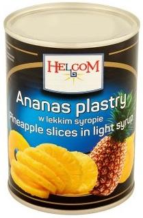 Helcom Ananas plastry  w lekkim syropie