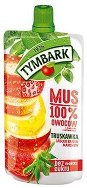 Tymbark Mus 100% owoców truskawka,jabłko,banan,marchew