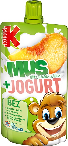 Kubuś Mus + Jogurt jabłko,brzoskwinia,banan