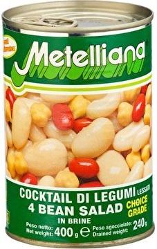 Metelli cuatro variedades de granos de mezclar en salmuera