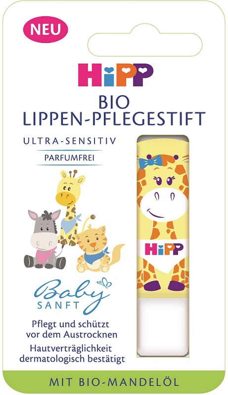 HiPP Babysanft Pielęgnacyjna pomadka do ust BIO Ultra Sensitive