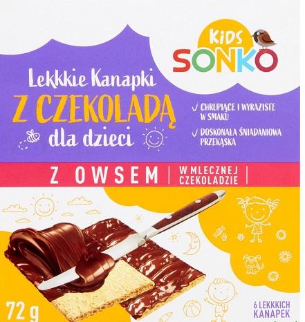 Sonko Bread avena en chocolate con leche