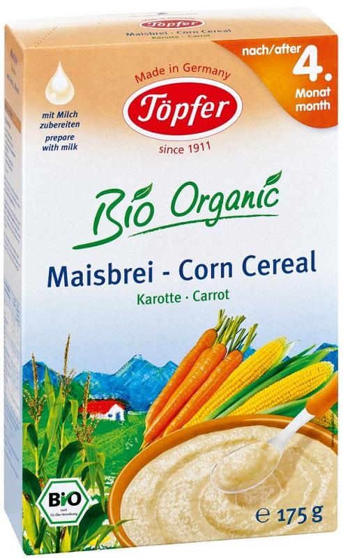 Topfer kaszka kukurydziana bezglutenowa BIO marchew