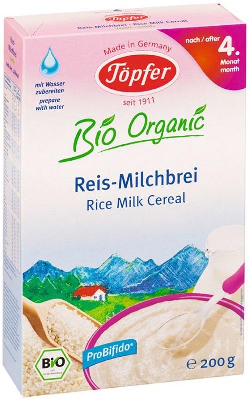 Topfer BIO gachas de arroz sin gluten