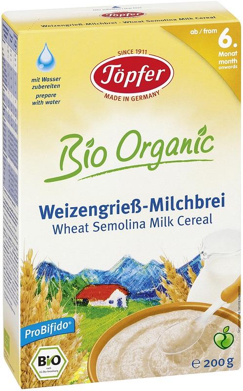 Topfer kaszka manna pszenna mleczna BIO