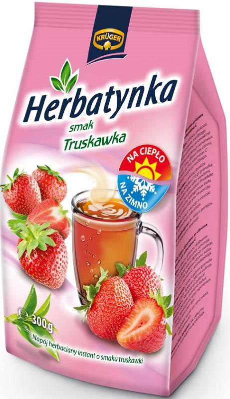 Herbatynka - smak truskawka Napój herbaciany instant