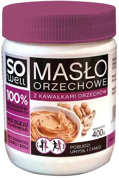 SoWell Masło orzechowe z kawałkami  orzechów