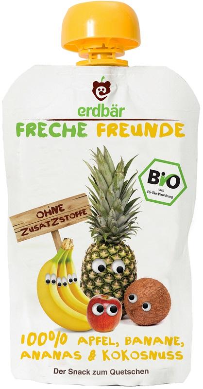 Erdbar Mus banan, ananas, kokos EKO