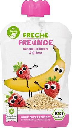 Erdbar Mus banan, truskawka, quinoa EKO