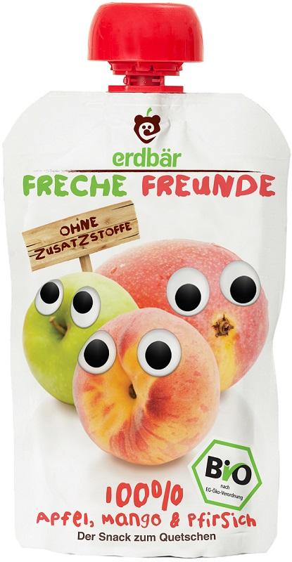 Erdbar Mus jabłko, mango, brzoskwinia EKO