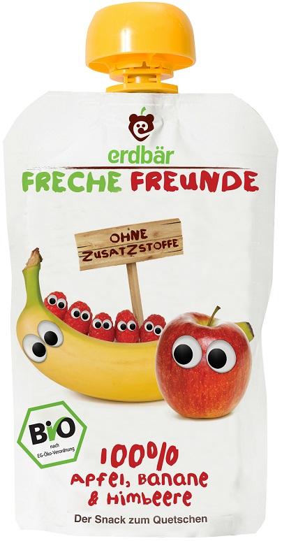 Erdbar Mus jabłko, banan, malina EKO