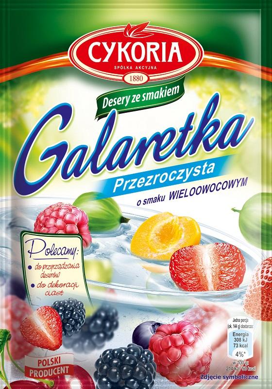Cykoria Galaretka przezroczysta o smaku wieloowocowym