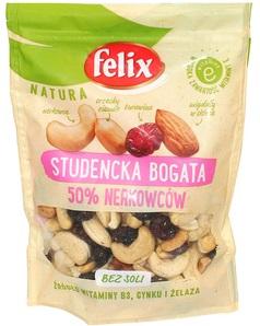 Felix Natura Mieszanka studencka bogata 50% nerkowców bez soli