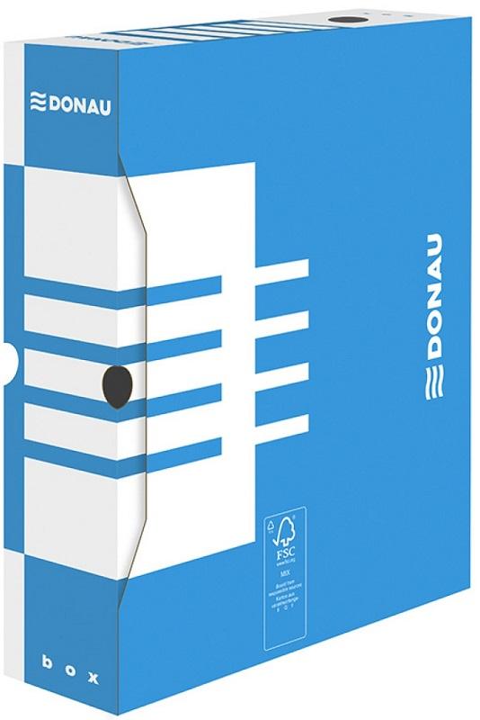 Donau Pudło archiwizacyjne,karton, A4/80mm, niebieskie