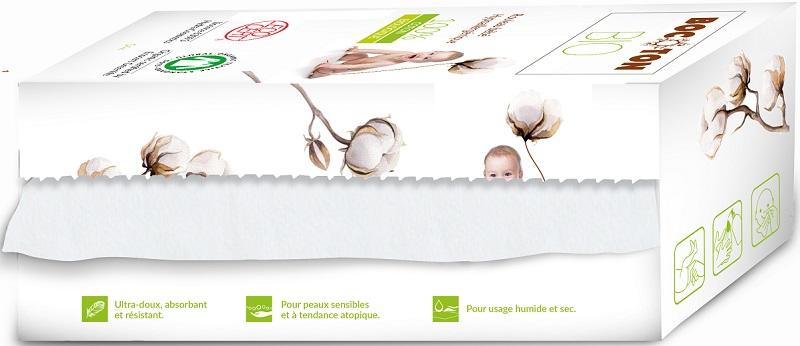 Bocoton Ręczniczki bawełniane suche dla dzieci i niemowląt BIO