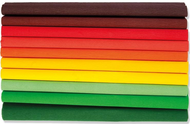 Happy Color Bibuła marszczona 25x200cm mix jesień