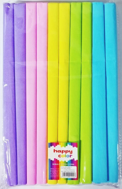 Happy Color Bibuła marszczona 25x200cm mix pastel