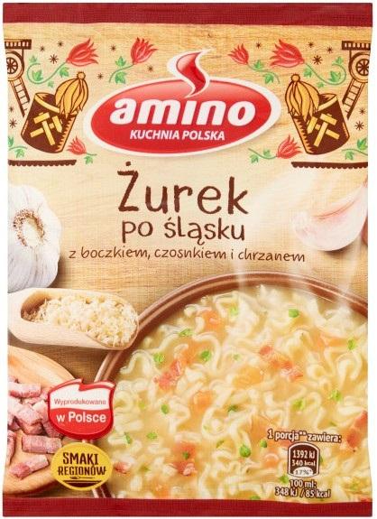 Amino Zupa błyskawiczna żurek po śląsku z boczkiem,czosnkiem i chrzanem
