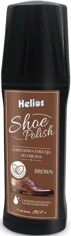 Helios Shoe Polish Luxury Emulsion for brown footwear