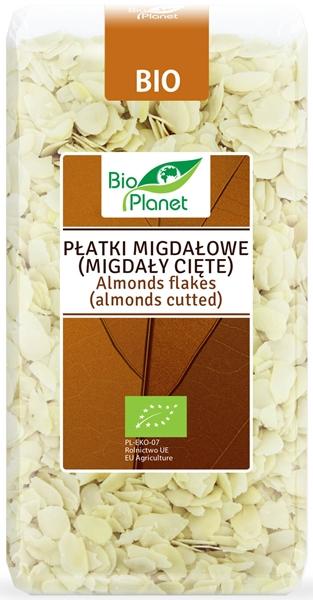 Bio Planet Płatki migdałowe  (migdały cięte) BIO