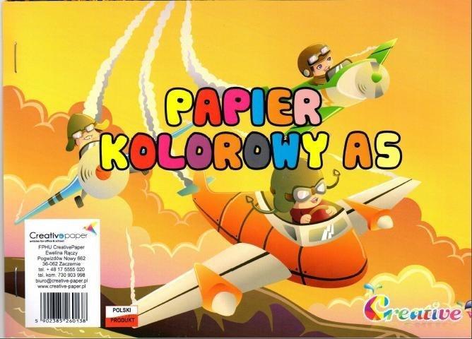 Papel de color creativo A5