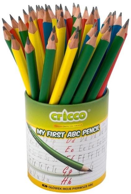 Cricco Ołówek trójkątny jumbo z gumką Moje pierwsze ABC