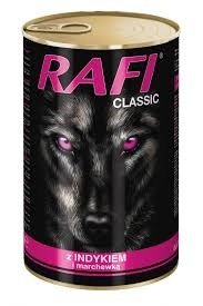 Rafi Classic Complete feed for adult dogs of all breeds with turkey and carrot