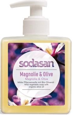 Sodasan Roślinne mydło w płynie  magnolia i bergamotka