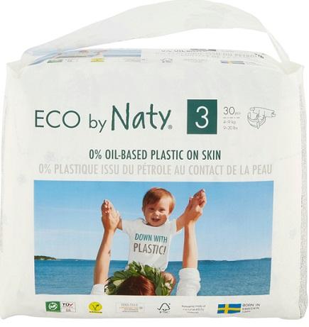 Naty ekologiczne pieluchy jednorazowe no.3 (4-9kg)