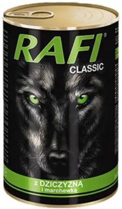 Rafi Classic Alleinfuttermittel für ausgewachsene Hunde aller Rassen mit Wild und Karotten