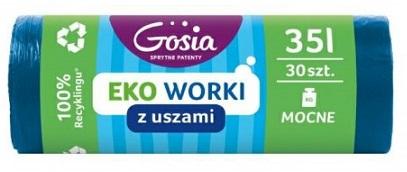 Gosia Мешки для мусора крепкие с ушками 35л