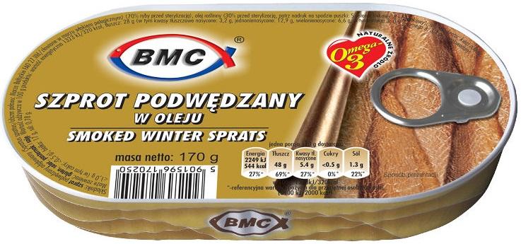 B.M.C. Szprot podwędzany w oleju  Winter