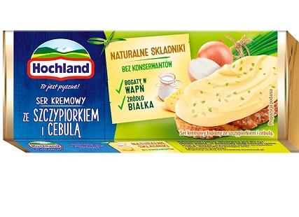 Hochland Ser kremowy  ze szczypiorkiem i cebulą